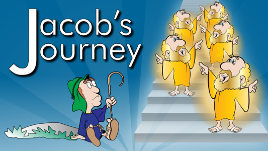 Jacob goes to Haran, works for Laban, marries Leah and Rachel, returns home and wrestles with God