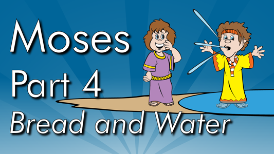 After crossing the Red Sea the Israelites head for home, God provides them with clean water to drink and manna to eat